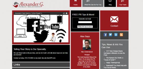 AlexGPR.com – Website for PR Company